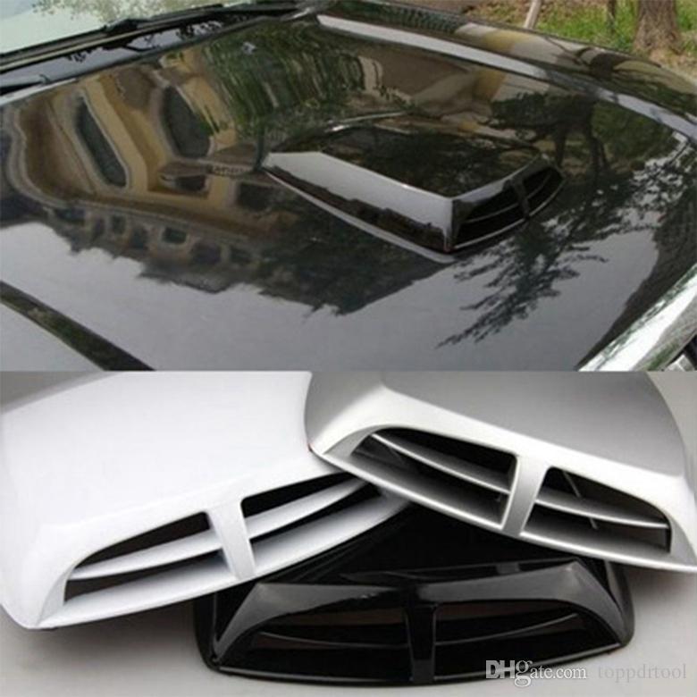 Car Air Vent Simulation Universal Car Decoration Air Flow Intake Scoop Exterior Bonnet Vent Cover Hood