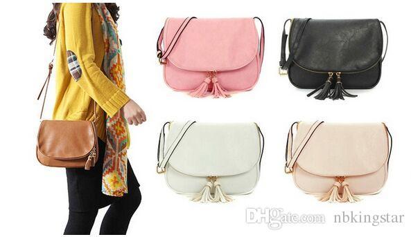 69295c90cb Women Tassel Zipper Bag Pu Leather Crossbody Saddle Bag Shoulder Handbags  Messenger Bag For Women Handbags Brands Womens Handbags From Nbkingstar