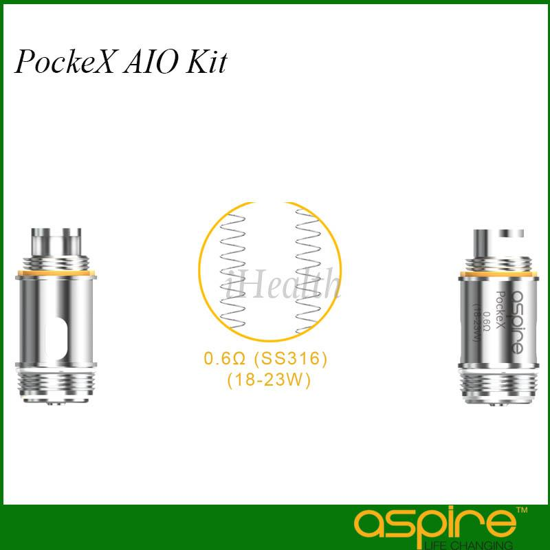 Aspire Nautilus X Coils 1.5ohm 1.8ohm Pockex 0.6ohm SS316L Coil pour Kit PockeX 100% Original Pocke X Coils