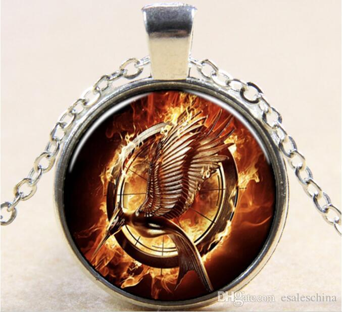 Europe and the United States hot Movie series Hunger Games Mocking bird pattern Necklace #3265