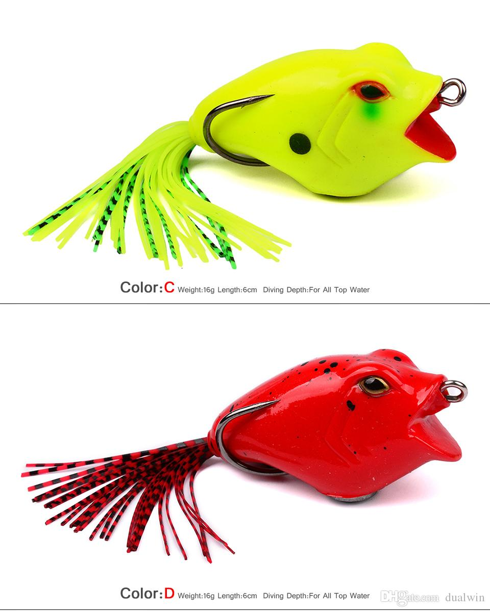 """Soft Baits Frog Lure With Hooks Soft Fishing Bait Fishing Lures 16.16g-0.57oz/9.5cm-3.75"""" Fishing Baits"""