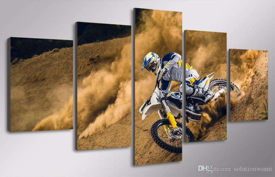 HD Printed Motocross car Painting Canvas Print room decor print poster picture canvas fun canvas painting ideas