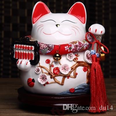 Счастливый кот японский Счастливый кот украшения подлинное золото большой японский керамический поросенок поросенок открыл магазин творческий подарок 10 дюймов