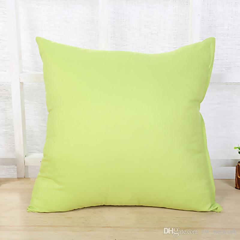 Сплошной цвет наволочки Pull Plush Диван спинка наволочка 45 * 45см Мягкая здоровая подушка наволочка с молнией конфеты цвета чехлы