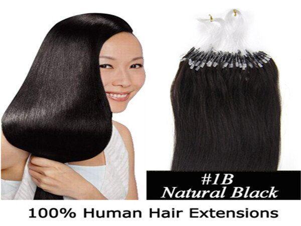Mikro döngü saç uzantıları İnsan Remy Saç 18