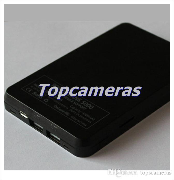 2200 mAH H.264 HD 720 P Covert Mobile Power Bank Câmera DVR Mini Câmera Gravador De Vídeo W / Casa de Metal, suporte Max 32 GB