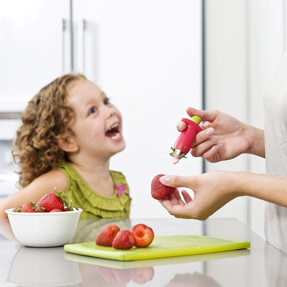 المطبخ سيقان الطماطم الفاكهة الفراولة سكين الجذعية يترك المزيل الفاكهة القطاعة الفراولة huller أخذ العينات الجوفية مطبخ أداة