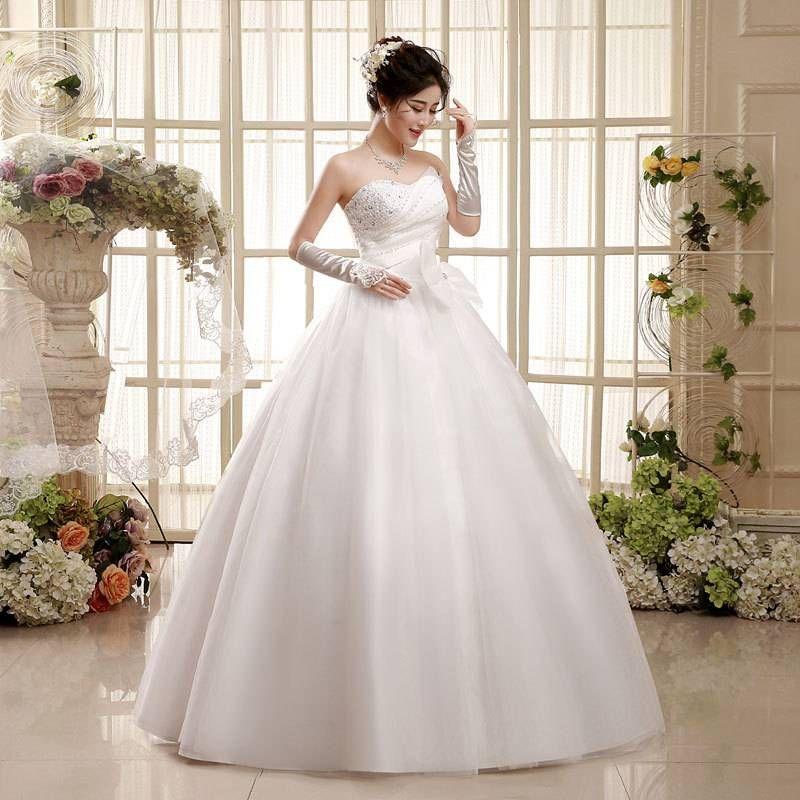 Factory wholesale wedding dress 2017 new bride wedding dress bra straps.