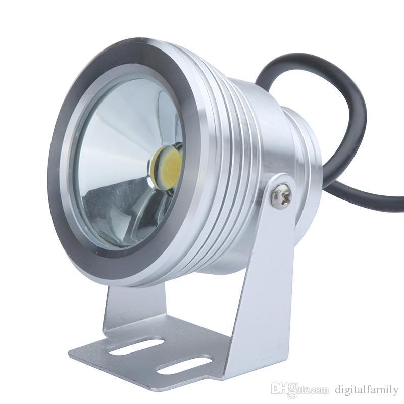 10W 12V LED Flood Lamp Waterproof Underwater Light Fountain Poor Landscape Lighting 1000LM Warm White/White Flat Lens IP65 H9669