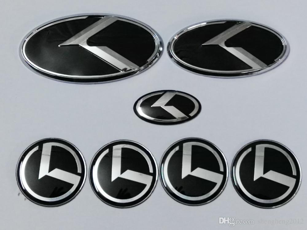 2018 New Black K Logo Badge Emblem For Kia Optima K5 Car Emblems3d