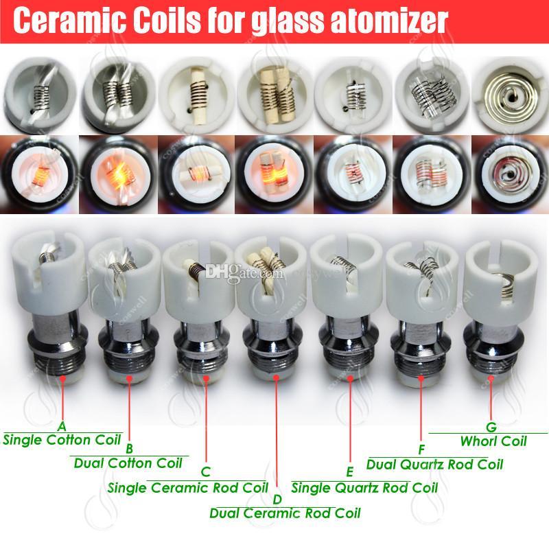 Atomizzatore di ricambio in cotone ceramico al quarzo bobine a doppio vetro a globo Cera di ciambella erbe secche Vaporizzatori di erbe penna vape e sigarette nucleo di vapore