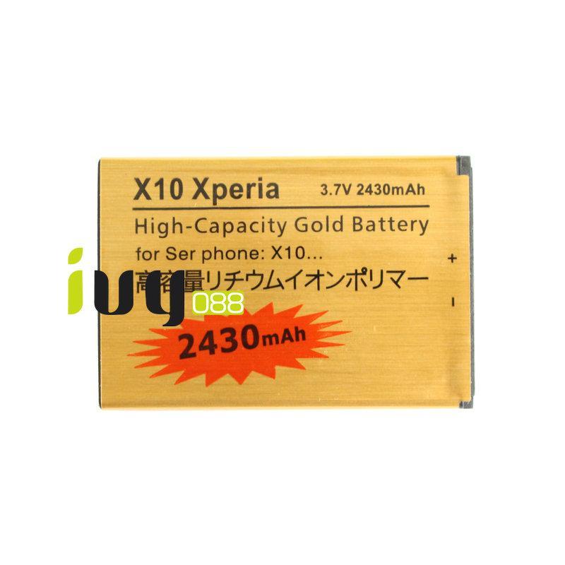 50 pz / lotto 2430 mAh Batteria di ricambio Sony Xperia X10 BST-41 XPERIA X1 / X2 / A8i / M1i Xperia PLAY Z1i R800 Batterie Batteria Batterie