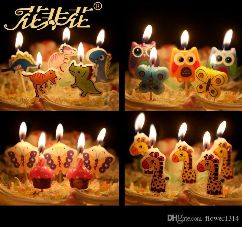 12 Designs Cartoon Minions Spider Man Smile Happy Birthday Candle