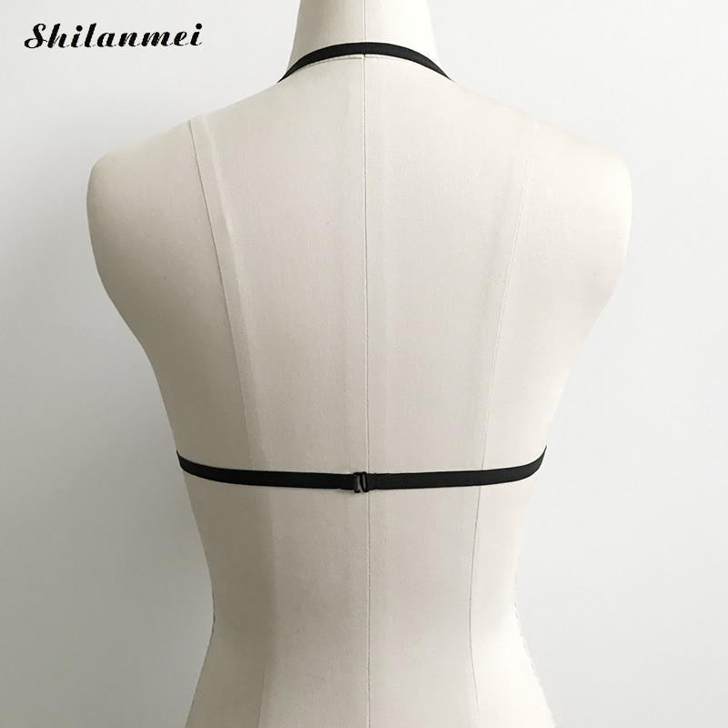 Sexy Women Underwear Gothic Bra Harness Straps Goth Cage Bra Garter Belt Adjustable Body Bondage Lingerie Erotic Bra tops