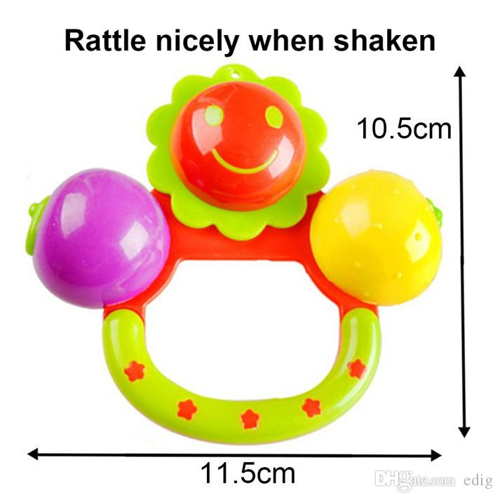6 in 1 Lovely Plastic Baby Toys Hand Shake Bell Ring Rattles Toys Set Baby Educational Toys