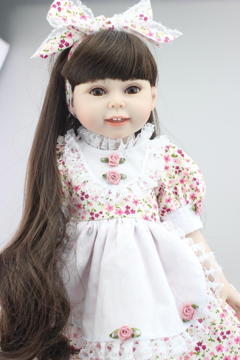 2016 Hot Sale 18inch Reborn Lovely American Girl Doll Realistic Baby Toys  Made From Full Vinyl With Beautiful Clothes And Shoes Clothing For 18 Dolls  ...