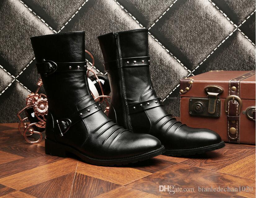Autumn and winter men 's boots, Martin boots, high boots, men' s shoes, the trend of male high boots