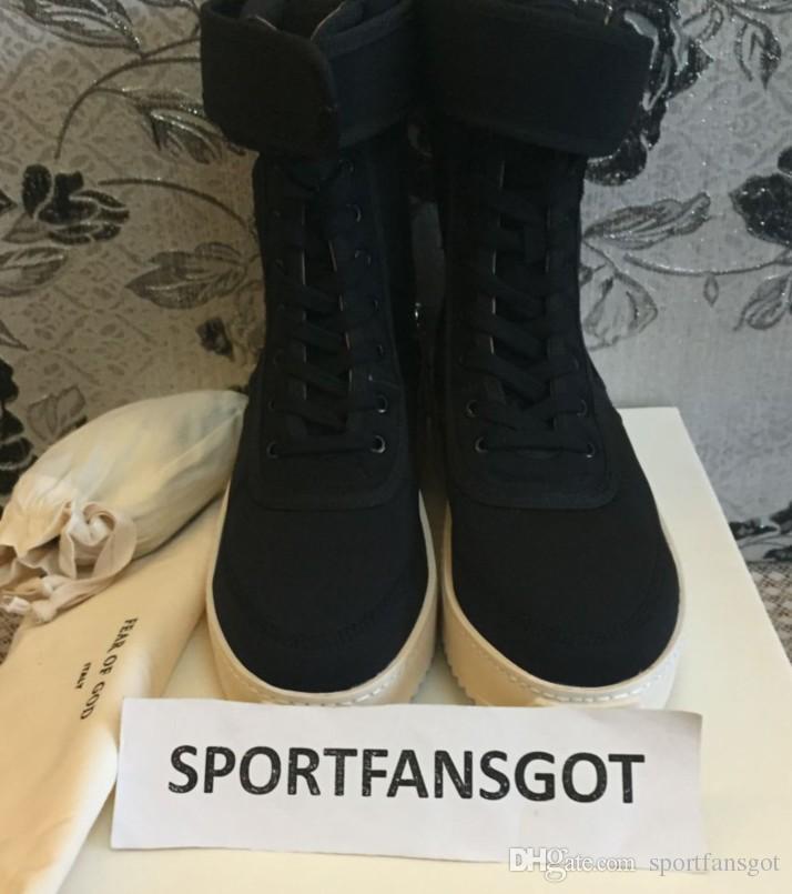 DHL Peur de Dieu Brouillard Bottes d'hiver avec boîte d'origine Made in Italy Hommes Femmes Chaussures d'hiver peur de dieu Haute chaussure FOG noir blanc bottes militaires
