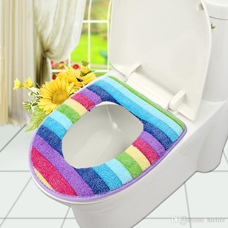 large toilet seat lid covers. 2018 Bathroom Set Colorful Toilet Cover Wc Seat Bath Mat Holder  Closestool Lid Cushion From Hielife 4 23 Dhgate Com