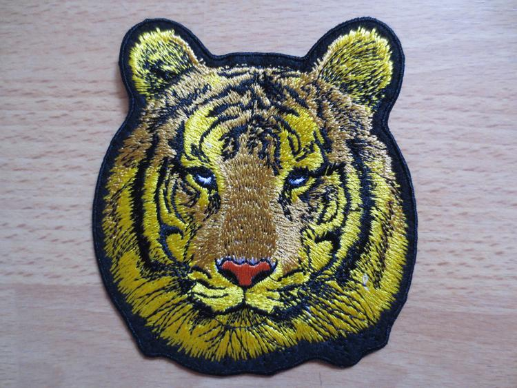 mini tiger's head embridory twill Patches for Jacket Motorcycle Biker Back Motorcycle