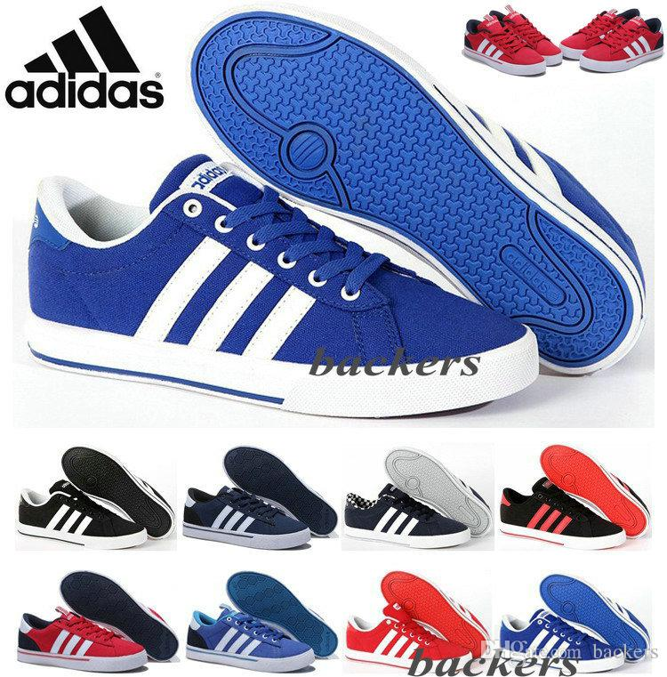 cheap for discount 29bec e437a ... store originals adidas neo mens womens low top canvas casual shoes  running sneakers original cheap black