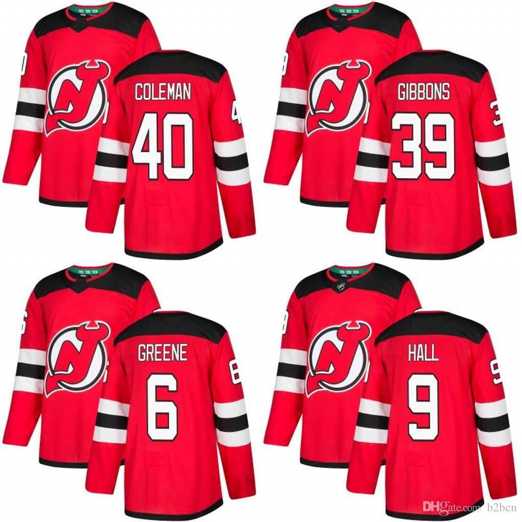 2019 2019 MEN WOMEN Youth New Jersey Devils 6 Andy Greene 9 Taylor Hall 10  Jimmy Hayes 39 Brian Gibbons 40 Blake Coleman Hockey Jerseys Stitched From  B2bcn 74be1e94d