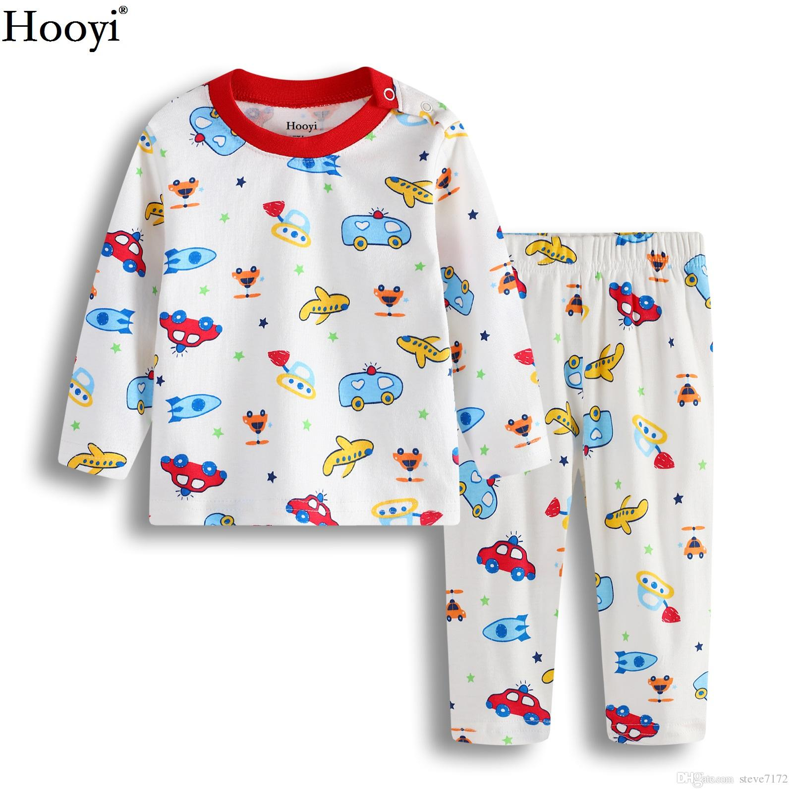 Hooyi Fashion Baby Boys Pajamas Clothes Set Newborn Jumpsuist Baby