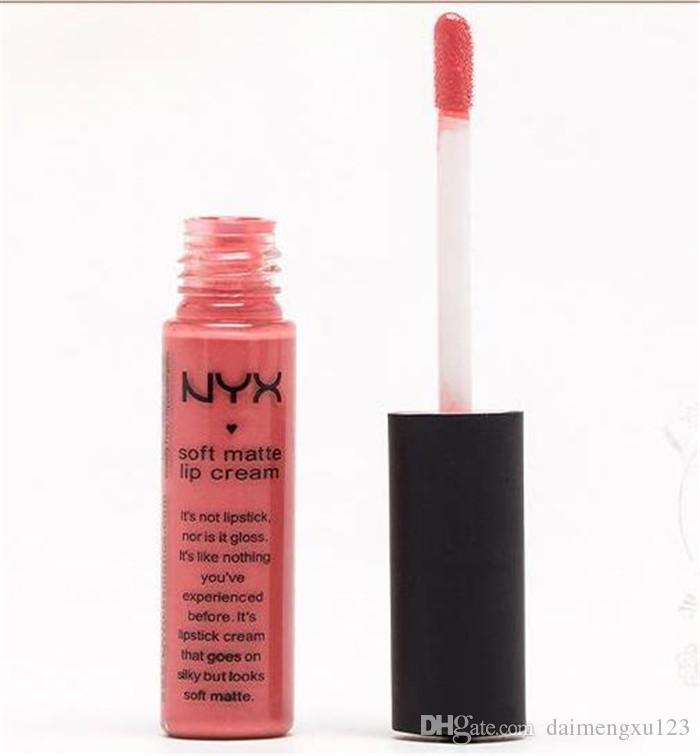 NYX Soft Matte Lip Cream Lipstick NYX Makeup Charming Long-lasting Daily Party Brand Glossy Makeup Lipsticks Lip Gloss D790
