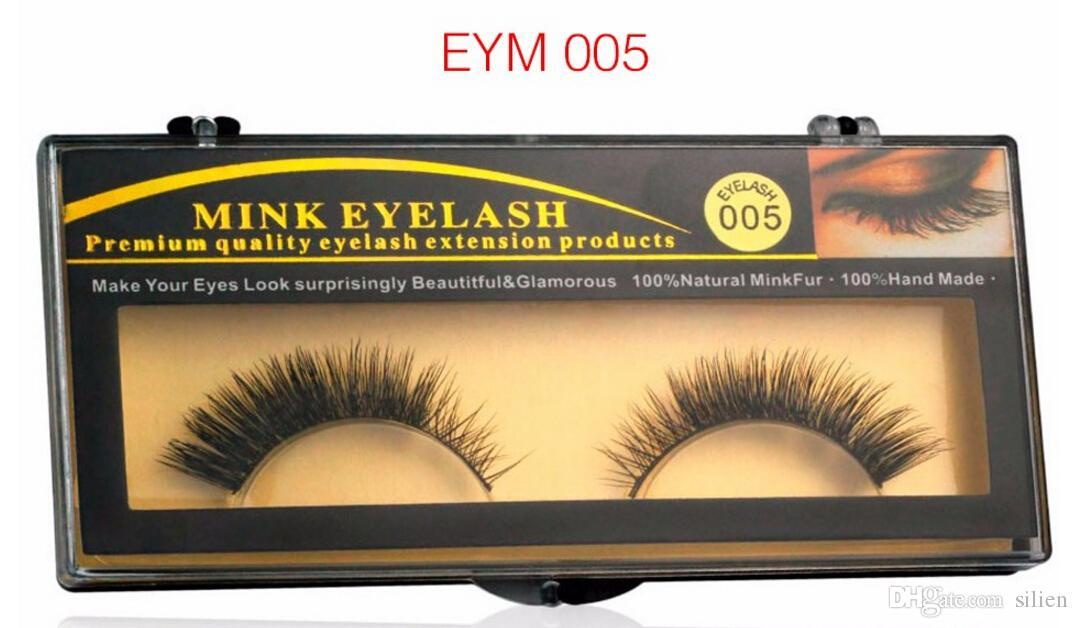 es Bonne naturel épais Mink faux cils pour le maquillage beauté Cils Extension naturelle pour Maquiagem