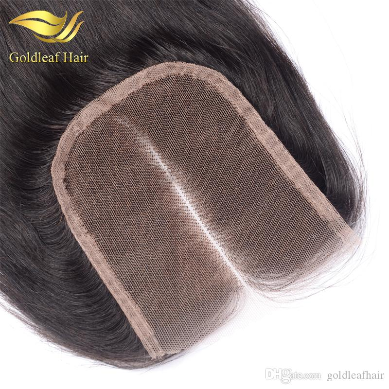 Malaysia Lace Closure Straight Hair Three/Middle/Free Part 4x4 top Brazilain Peruvian Indian Closure Medium Brown Lace Natural Color Closure