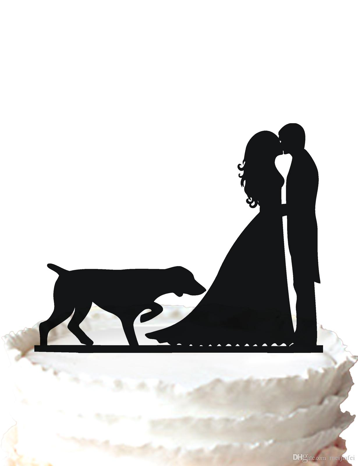 2018 Wedding Cake Topper Bride And Groom Silhouette Toppers For Cake ...