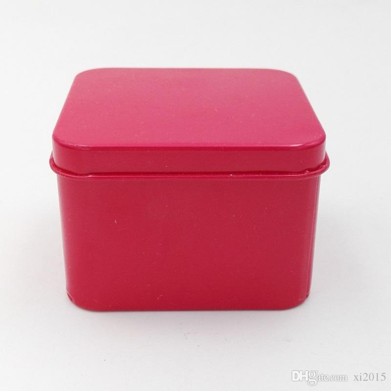 6.5*6.5*4.5cm High Quality Colorful Tea Caddy Tin Box Jewelry Storage Case Square Metal Mini Candy Box