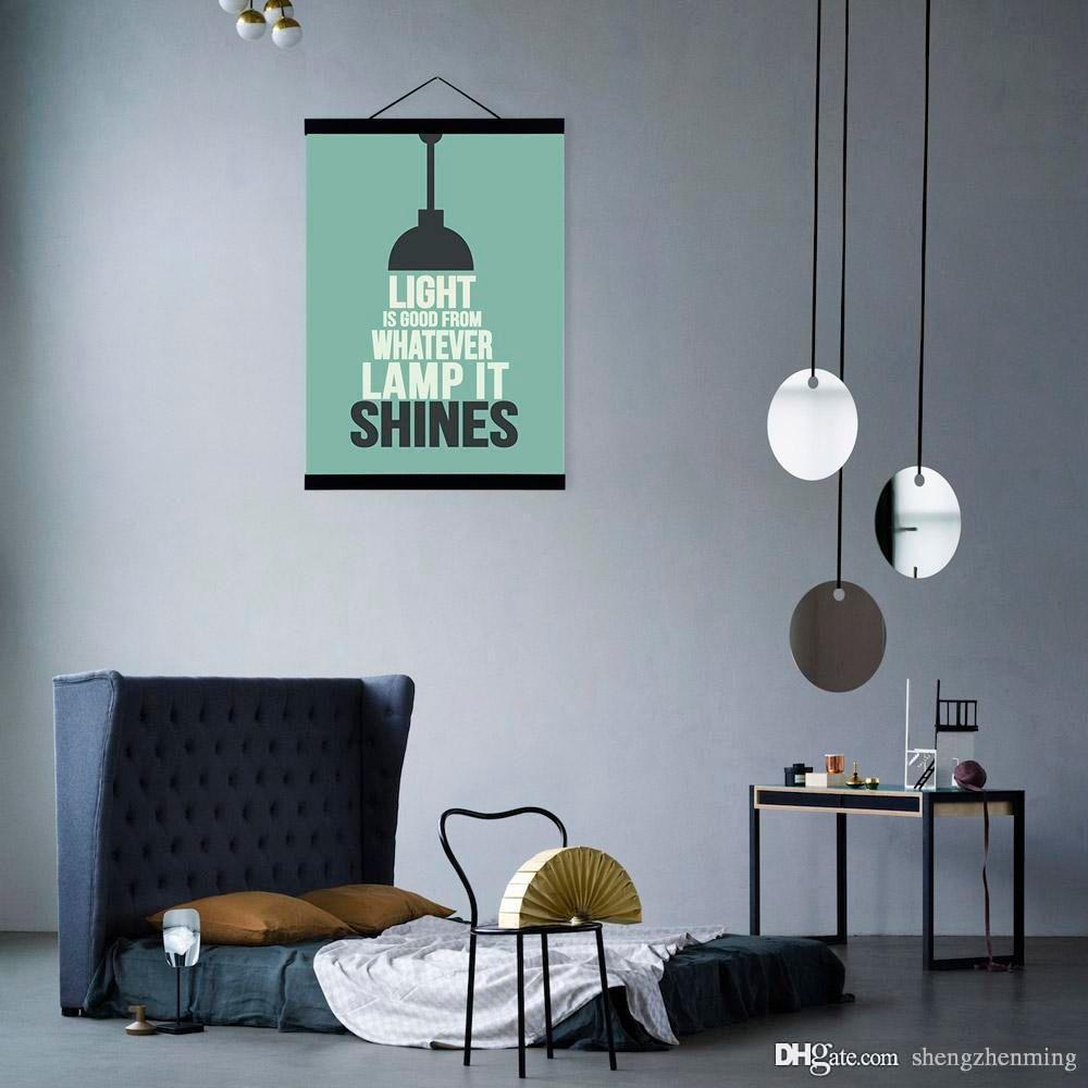 Großhandel Modernen Minimalistischen Hipster Büro Schlafzimmer Wandkunst  Licht Inspirierend Typografie Zitate A4 Großen Plakatdruck Leinwand Malerei  ...