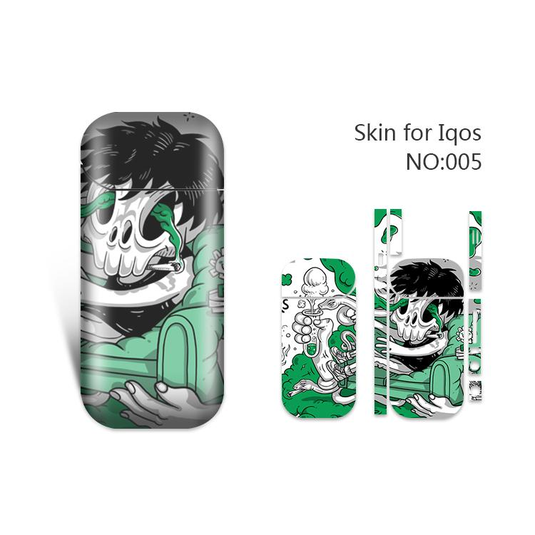 IQOS Skin Printing Wraps Sticker Cases Cover Holder for IQOS Box Mod Vape Protective Film Stickers With Fashion 19 Cool Pattern DHL