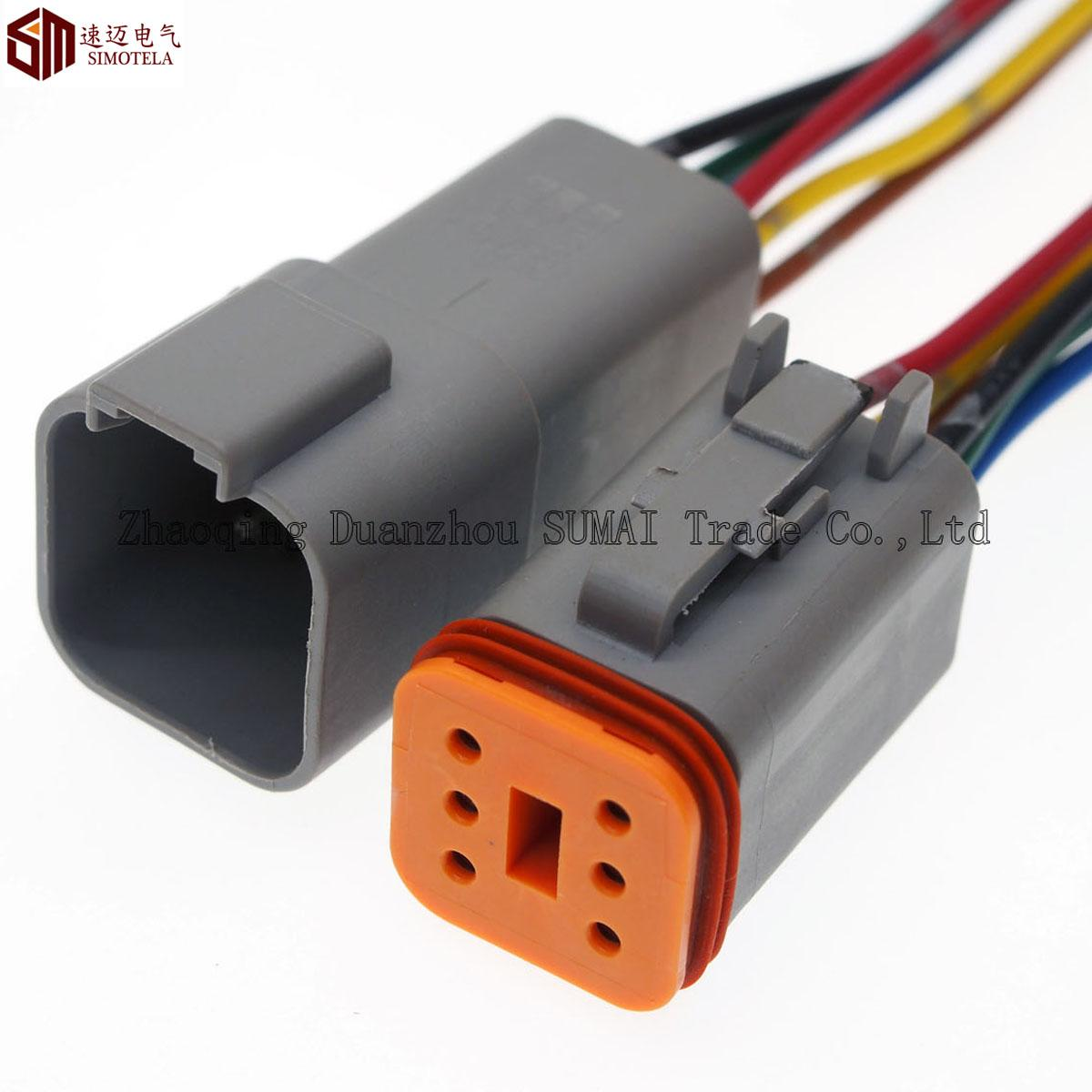 2020 Deutsch Dt06 6s And Dt04 6p Sets 6 Pin Engine  Gearbox Waterproof Electrical Connector For