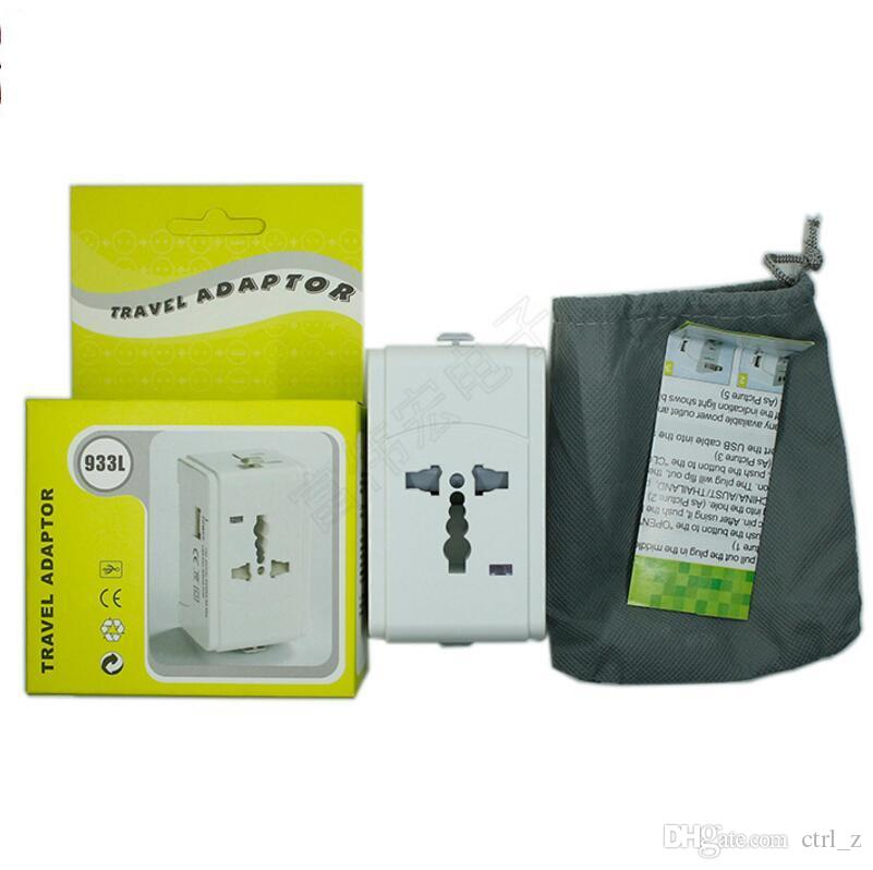 Global power Adapter Socket Electric Plug Universal travel adapter 5V 2A USB Power Charger Converter EU UK US AU Wall socket