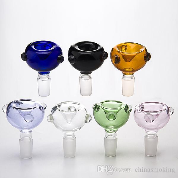 Bol en verre DHL 10mm 14mm 18mm Bols de verre mâle Bols de verre de verre pour bangs d'eau Tuyau d'eau