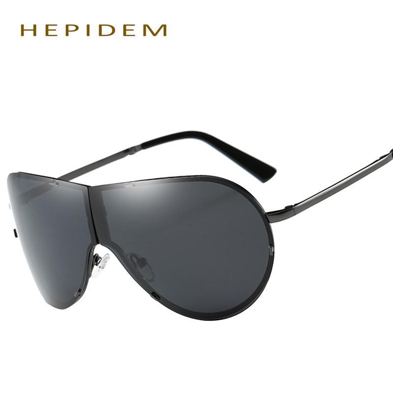 83803e7957 Wholesale HEPIDEM Fold Aviation Polarized Sunglasses Women Famous Brand  Designer Men Vintage Fashion Driving Rimless Sun Glasses For Men Cool  Sunglasses ...