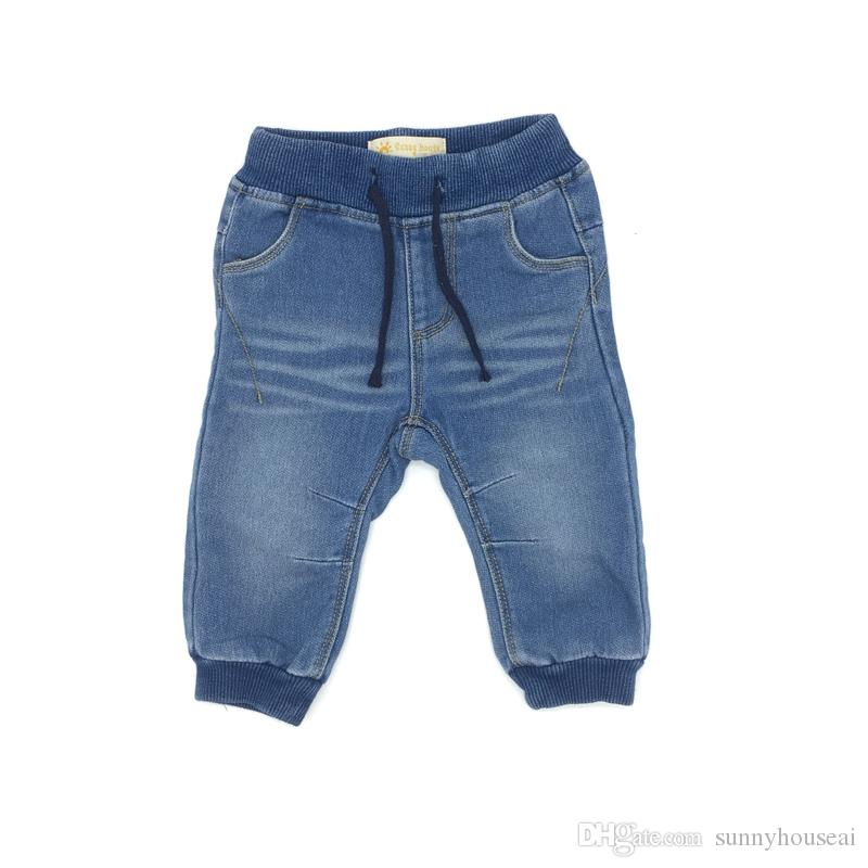 7fbcdd68d Baby Jeans Boys Long Pants Denim Solid American Style Fashion Design ...