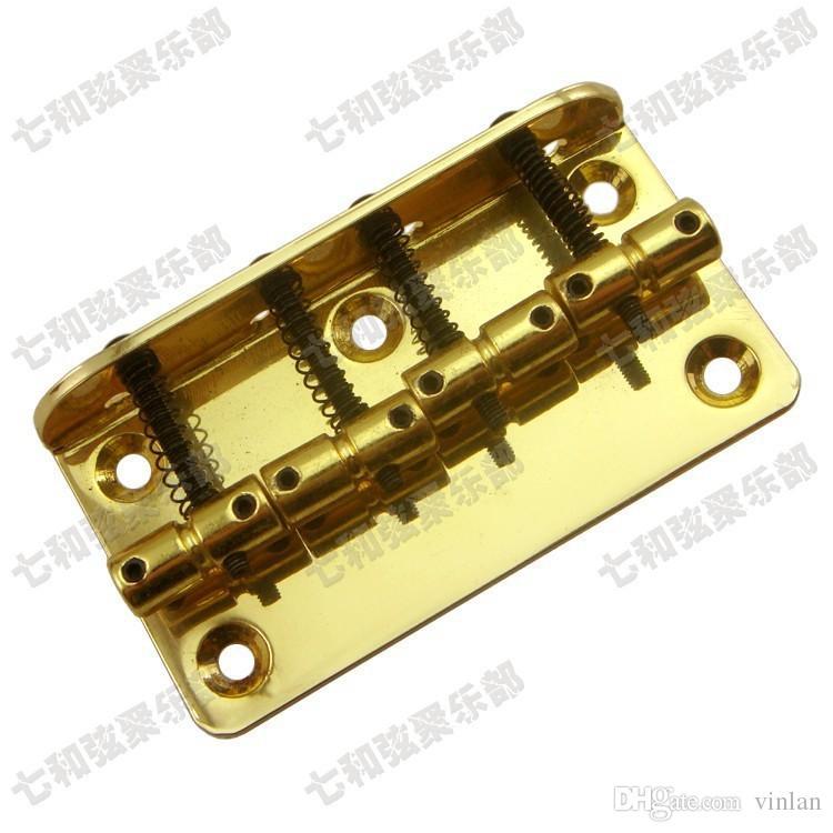 Golden Iron Bass Electric Guitar Bridge 4 Bass Strings Guitar Parts Strumenti musicali Accessori