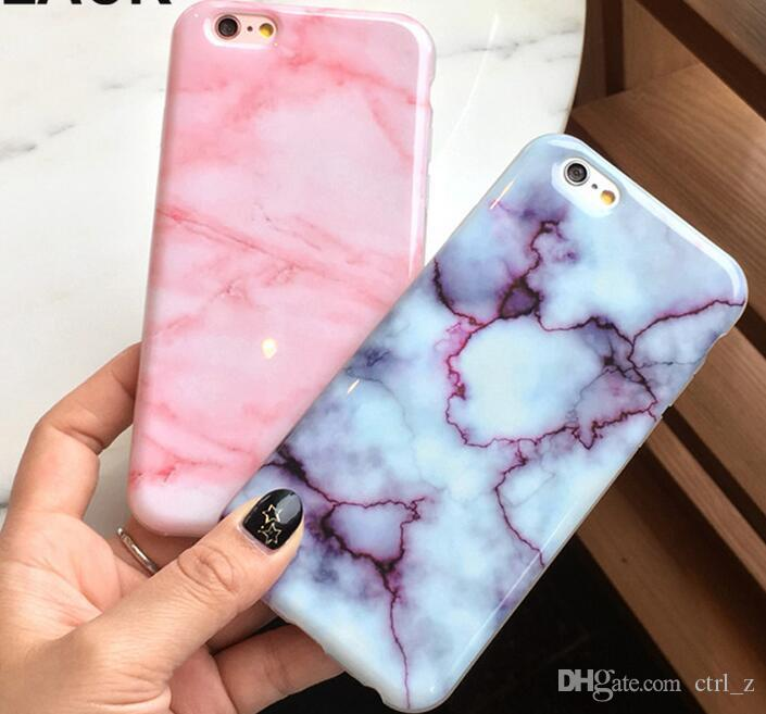 Marble Rock Stone Texture Pattern Back Cover Case for Apple iphone 7 6 6S Plus IMD soft TPU Phone Cases