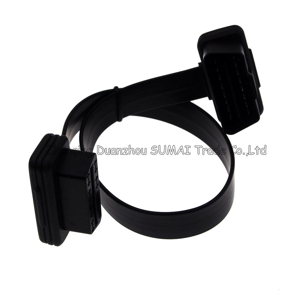 Tutu's driving OBD extension cable,HUD latch up windows,car OBD2 development flat wire,male to female extension cable,Automobile diagnosis