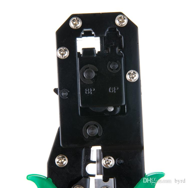 RJ45 RJ11 네트워크 케이블 크림 퍼 펜치 도구 T02007