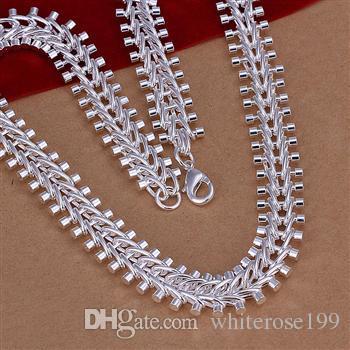 Großverkauf - Kleinster Preis des Verkaufs Weihnachtsgeschenk 925 silberne Art und Weiseschmucksachen geben Verschiffen Halskette N0228 frei