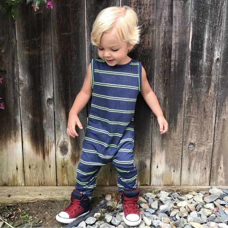 sale hot product low price sale 2020 Baby Boys Boutique Clothes Striped Romper Suit Todder Outfit ...