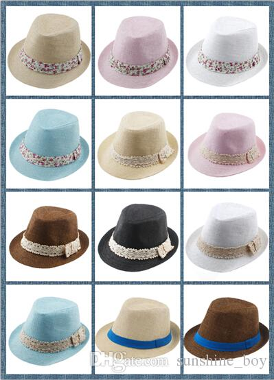 e9a6ac2b3fb 2019 8%off Kids Straw Fedora Hat Baby Summer Straw Lace Broken Beautiful  Side Hat Boys Girls Jazz Cap Straw Fedoras Baby Strawhat From Sunshine boy