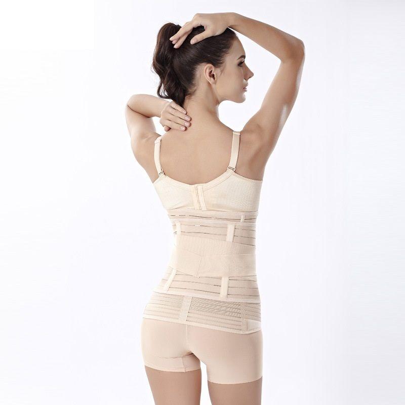 2016 novas mulheres recuperação pós-parto espartilho barriga / cintura / pelve cinto emagrecimento suporte ao corpo banda 3 em 1