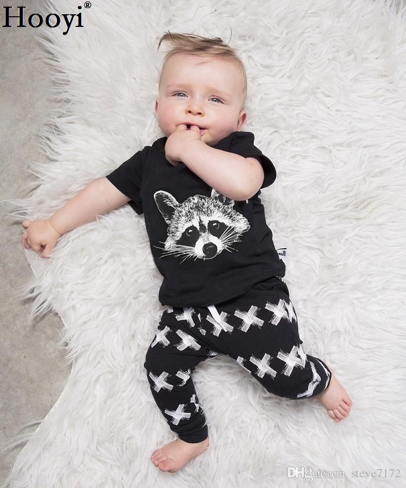 64c3d6e76 2019 2018 New Fashion Baby Clothes Suits Summer Raccoon T Shirt ...