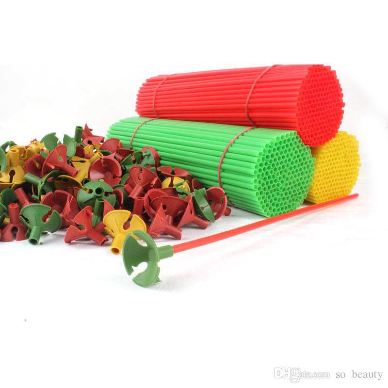 Palloncini a forma di cuore in lattice 100 pezzi e supporti bastoncini Colori Palloncino di perle Festa di nozze Buon compleanno Anniversario Decor 10 pollici nuovo