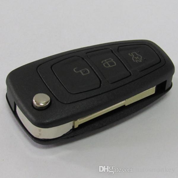 replacement car key case 3 button flip folding key cover FOB key blank for Ford mondeo remote key shell free shipping & Replacement Car Key Case 3 Button Flip Folding Key Cover Fob Key ... markmcfarlin.com